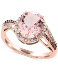 Effy Collection - Final Call By Effy® Morganite (2-1/2 Ct. T.w.) & Diamond (1/4 Ct. T.w.) Ring In 14k Rose Gold - Lyst
