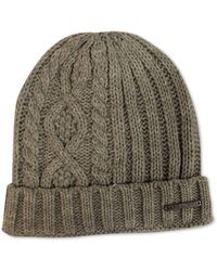 Sean John - Diamond Cable Knit Cuff Beanie, Created For Macy's - Lyst