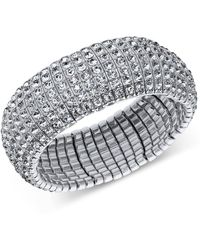 INC International Concepts - Silver-tone Crystal Stretch Bracelet, Created For Macy's - Lyst