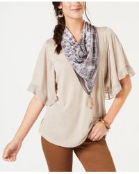 Style & Co. - Ruffled Scarf Top, Created For Macy's - Lyst