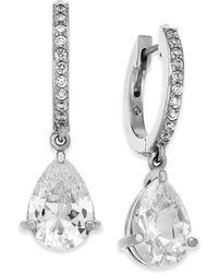 Kate Spade - Crystal Huggie Hoop Drop Earrings - Lyst