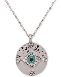 """Lonna & Lilly - Silver-tone Crystal Evil Eye Pendant Necklace, 28"""" + 3"""" Extender - Lyst"""