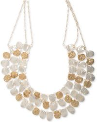 """Lonna & Lilly - Gold-tone & Imitation Pearl Multi-row Statement Necklace, 16"""" + 3"""" Extender - Lyst"""