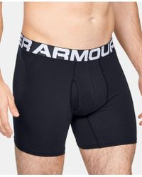 5e12d41efa6c Under Armour Charged Cotton Stretch 6 Inch Boxerjock 3-pack in Black ...