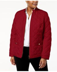 Charter Club - Plus Size Quilted Jacket - Lyst