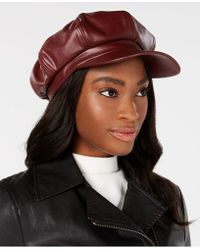 INC International Concepts - I.n.c. Faux-leather Newsboy Cap, Created For Macy's - Lyst