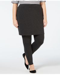 065569752706e2 Eileen Fisher - Plus Size Skirted Cozy Jersey Ankle Legging - Lyst