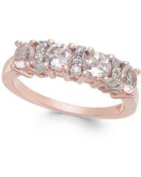Macy's - Morganite (1 Ct. T.w.) & Diamond (1/10 Ct. T.w.) Statement Ring In 14k Rose Gold - Lyst