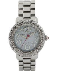 Betsey Johnson - Women's Silver-tone Bracelet Watch 42mm Bj00306-01 - Lyst