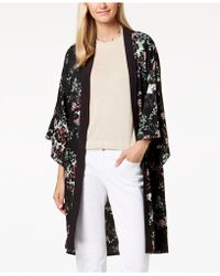 Steve Madden - Floral-print Duster Cape - Lyst