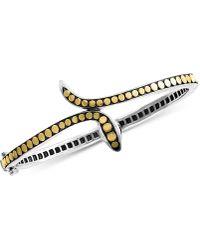 Effy Collection - Effy® Diamond Two-tone Snake Bangle Bracelet In Sterling Silver & 18k Gold-plate - Lyst