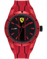 Ferrari - Red Rev Red Silicone Strap Watch 44mm - Lyst