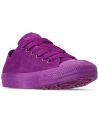 5f9b2d923fff Converse - Unisex Chuck Taylor All Star Suede Mono Color Low Top Casual  Sneakers From Finish