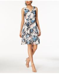 Ivanka Trump - Floral Printed Mesh Dress - Lyst
