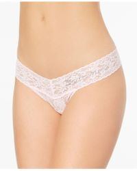 Hanky Panky - Bridesmaid Low-rise Sheer Lace Rhinestone Thong 491031 - Lyst