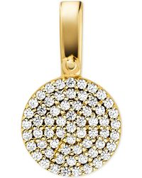 Michael Kors - Custom Kors Sterling Silver Pave Disc Charm - Lyst