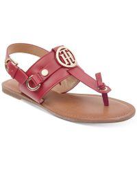 Tommy Hilfiger - Luvee Flat Sandals - Lyst