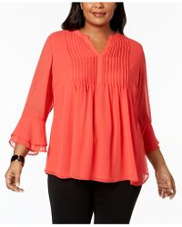 Charter Club - Plus Size Pintucked Tunic - Lyst