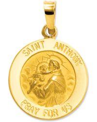Macy's - 14k Gold Charm, Saint Anthony Medal Charm - Lyst