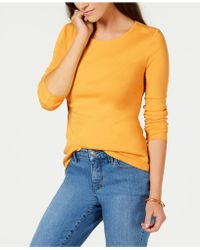 Charter Club - Pima Cotton Long-sleeve Top, Created For Macy's - Lyst