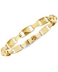 Michael Kors - Mercer Link 14k Gold-plated Sterling Silver Bracelet - Lyst