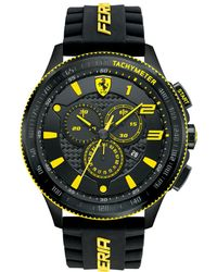 Ferrari - Men's Chronograph Scuderia Black Silicone Strap Watch 48mm 830139 - Lyst