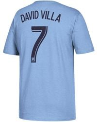 adidas - David Villa New York City Fc Primary Player T-shirt - Lyst