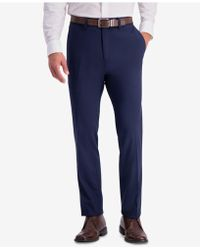 Kenneth Cole Reaction - Slim-fit Shadow Check Dress Trousers - Lyst