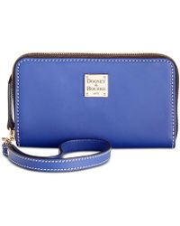 Dooney & Bourke - Beacon Zip Around Smooth Leather Wristlet - Lyst