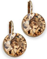 Swarovski - Earrings, Bella Yellow Crystal Drops - Lyst