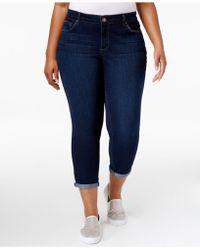 Jessica Simpson - Trendy Plus Size Royal Wash Cuffed Skinny Jeans - Lyst