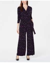 Alfani - Petite Printed Jumpsuit, Created For Macy's - Lyst