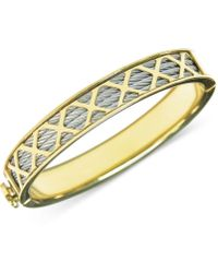 Charriol - Womens Stainless Steel Pvd Yellow Gold-tone Multi-x Cable Bangle Bracelet - Lyst