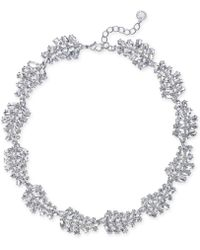 Charter Club | Silver-tone Marquise Crystal All-around Collar Necklace | Lyst