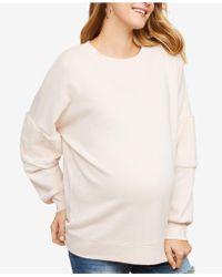 Jessica Simpson - Maternity French Terry Sweatshirt - Lyst