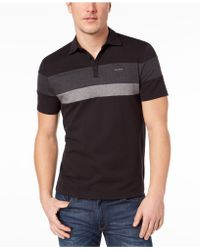 CALVIN KLEIN 205W39NYC - Liquid Touch Pieced Colorblocked Stripe Polo - Lyst