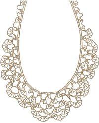 Macy's - Diamond-cut Bib Necklace In 14k Gold - Lyst