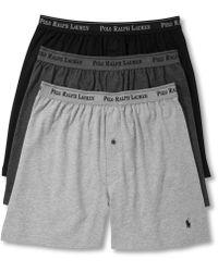 Polo Ralph Lauren - Underwear, Classic Knit Boxer 3 Pack - Lyst