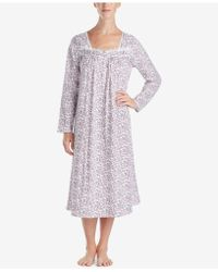 Eileen West - Cotton Printed Ballet-length Nightgown - Lyst