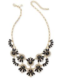 """INC International Concepts - I.n.c. Gold-tone Crystal & Stone Statement Necklace, 18"""" + 3"""" Extender, Created For Macy's - Lyst"""
