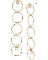 BCBGeneration - Multi Circle Linear Earrings - Lyst