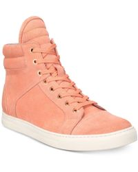 Kenneth Cole - Double Header Suede High-top Trainers - Lyst