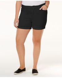Celebrity Pink - Trendy Plus Size Denim Shorts - Lyst