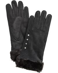 UGG - ® Studded Gloves With Faux Fur Cuff - Lyst