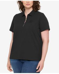 Tommy Hilfiger - Plus Size Zippered Polo - Lyst