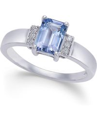 Macy's - Tanzanite (1 Ct. T.w.) & Diamond Accent Ring In 14k White Gold - Lyst