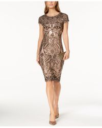 Betsy & Adam - Sequined Sheath Dress - Lyst