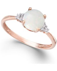 Macy's - Opal (3/4 Ct. T.w.) And Diamond Accent Ring In 14k Rose Gold - Lyst