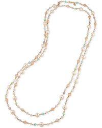 Carolee - Gold-tone Beaded Extra Long Necklace - Lyst