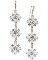 INC International Concepts - I.n.c Gold-tone Stone & Crystal Triple Cluster Linear Drop Earrings, Created For Macy's - Lyst